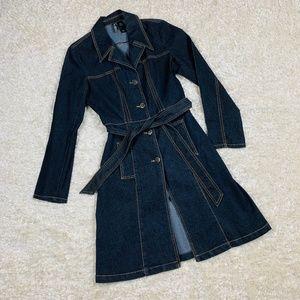 Bisou Bisou Michele Bohbot Size M Denim Dress